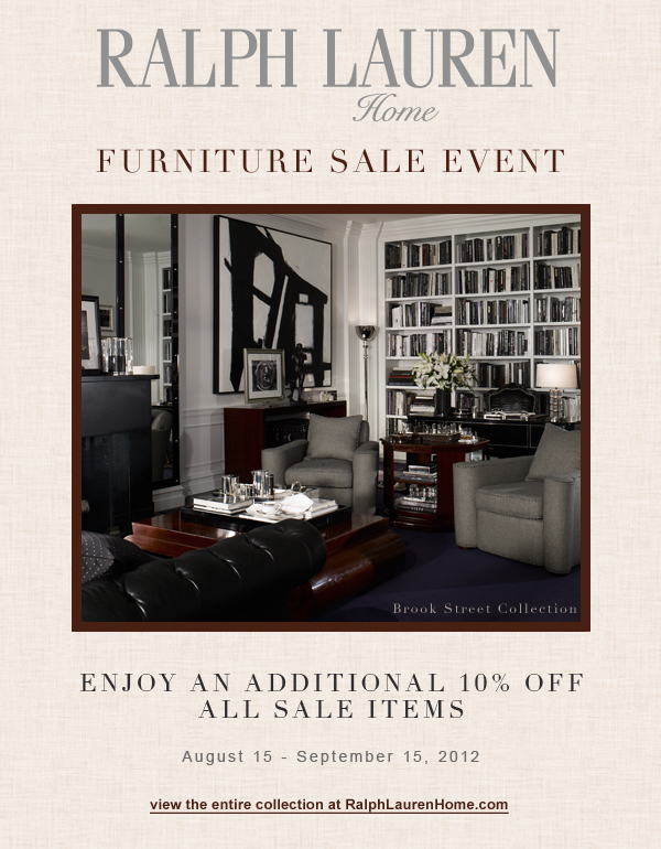 ralph lauren furniture sale