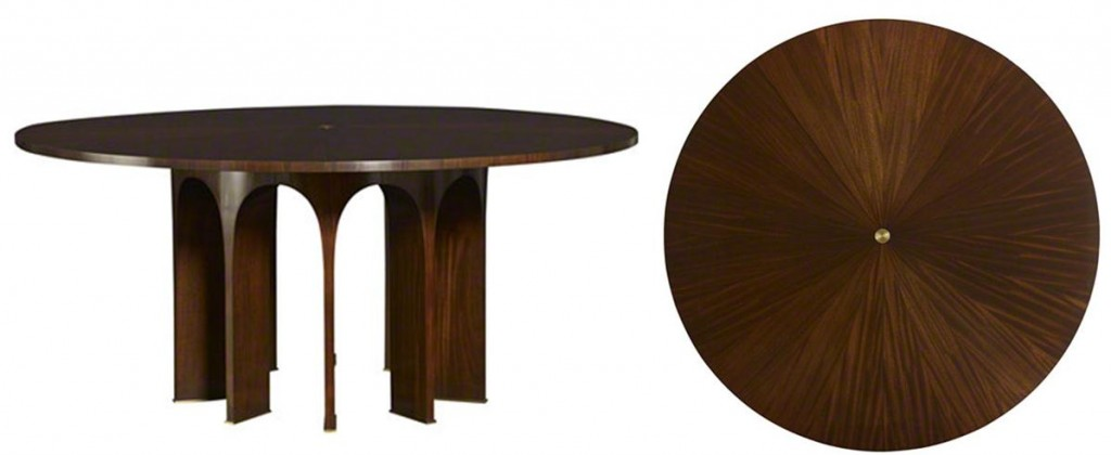 Gentil Arcade Round Dining Table By Baker Furniture