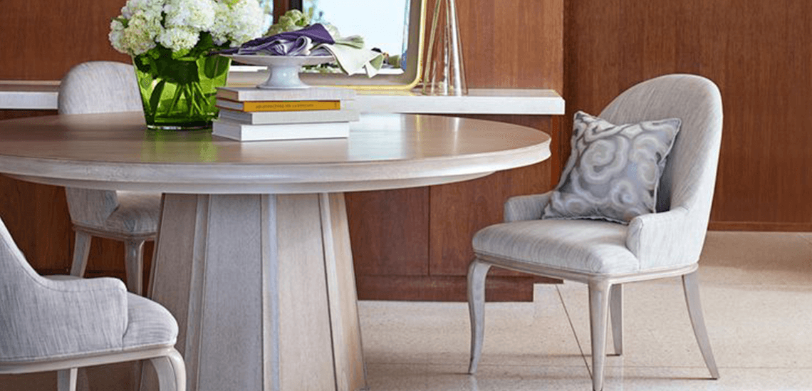 Gather Round Dining Tables Com Set Of Barbara Barry For Baker Dining Chairs  With Barbara Barry Furniture Collection.