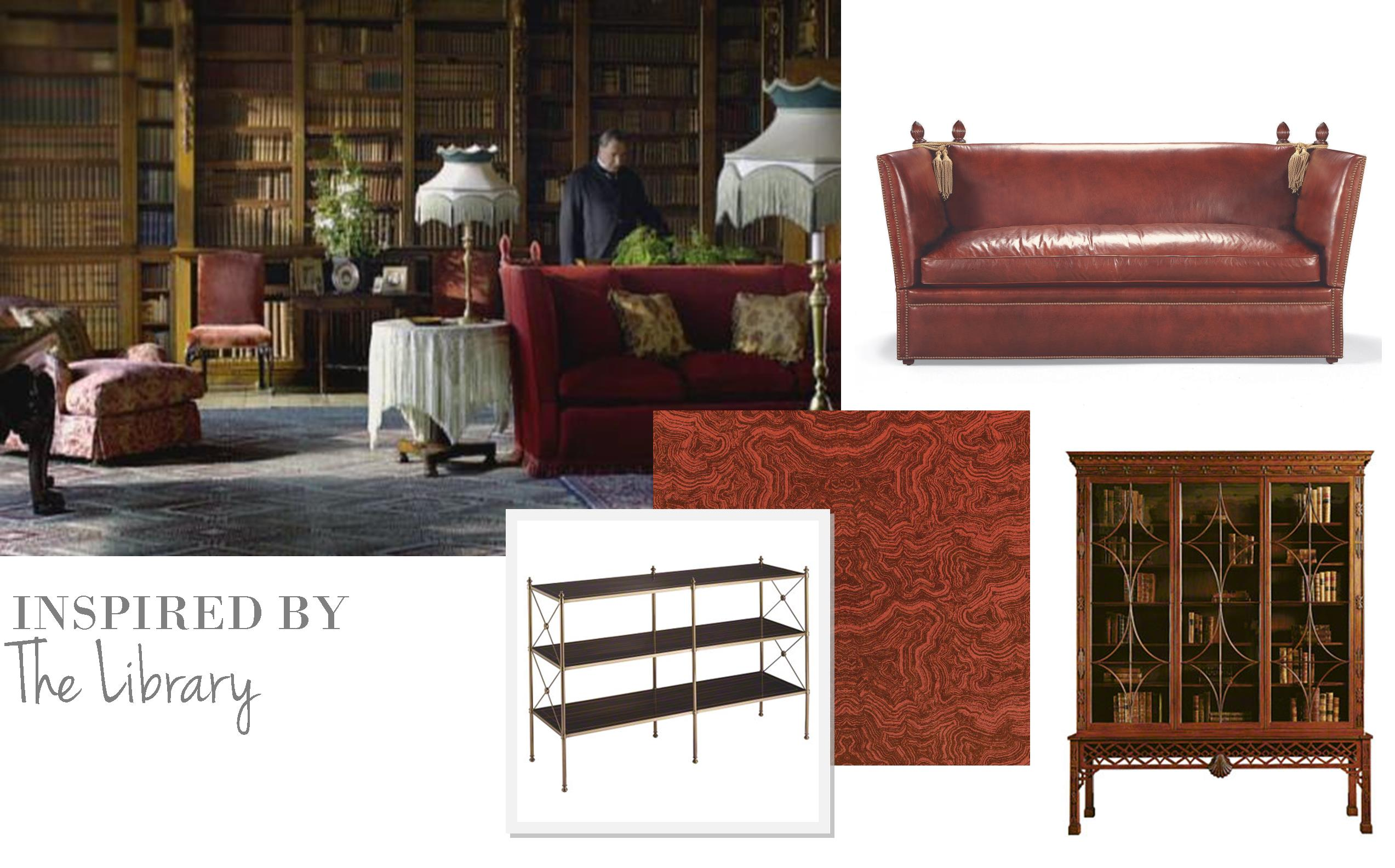 Genial Downton Abbey Library
