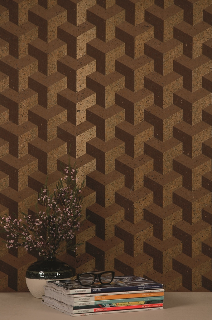 Cubism Cork Wallcoverings by Innovations
