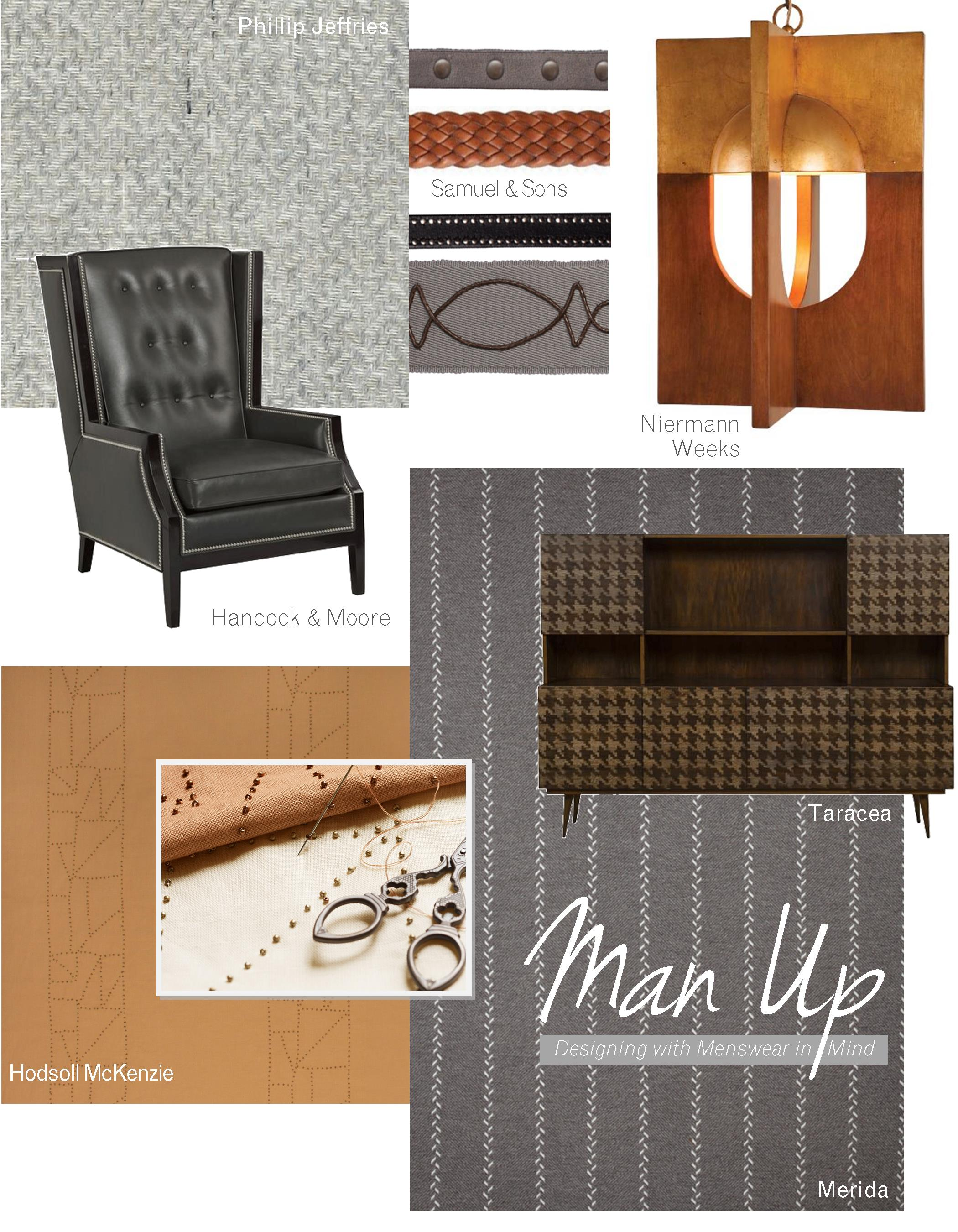 Home Furnishings for a Menswear-Inspired Space