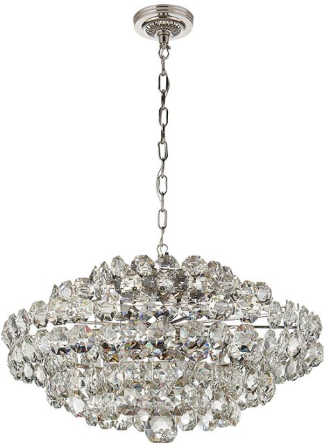 sanger chandelier in polished nickel