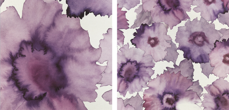Bloom Wallcoverings from Phillip Jeffries in Fuchsia