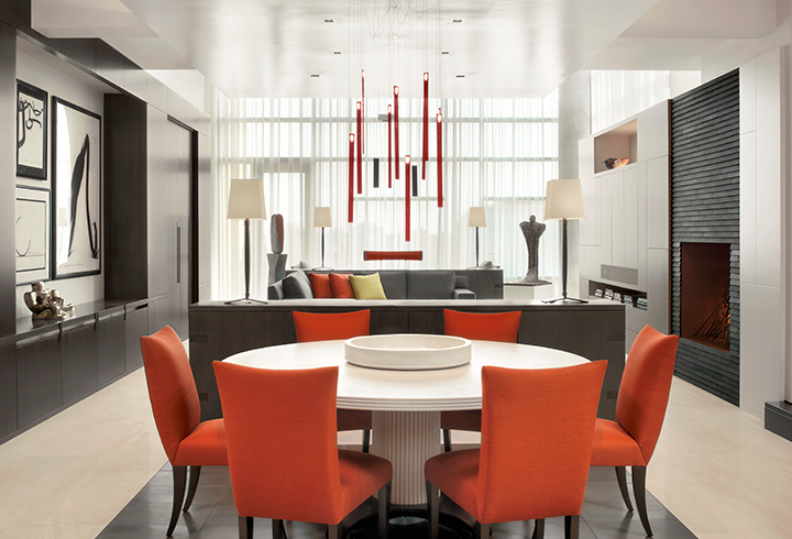 Penthouse Dining Room & Kitchen