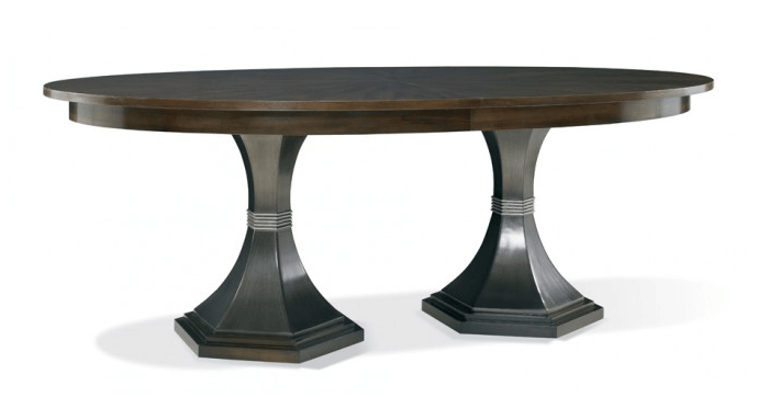 Hickory White Double Pedestal Table