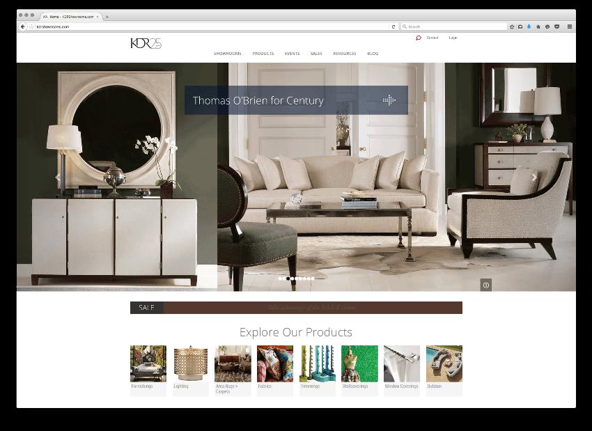KDR Designer Showrooms Homepage