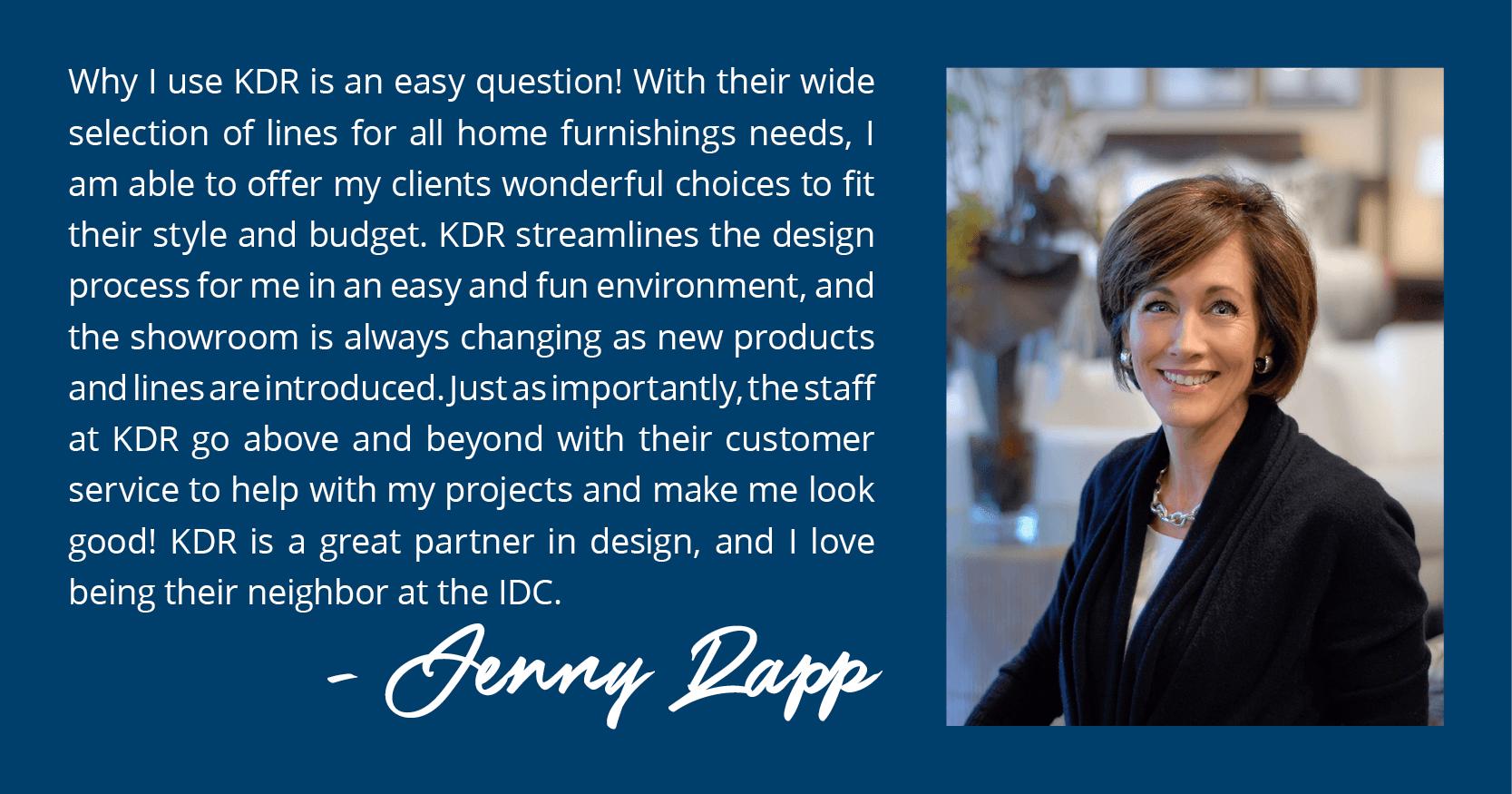 KDR Contest Winner Banner - Jenny Rapp