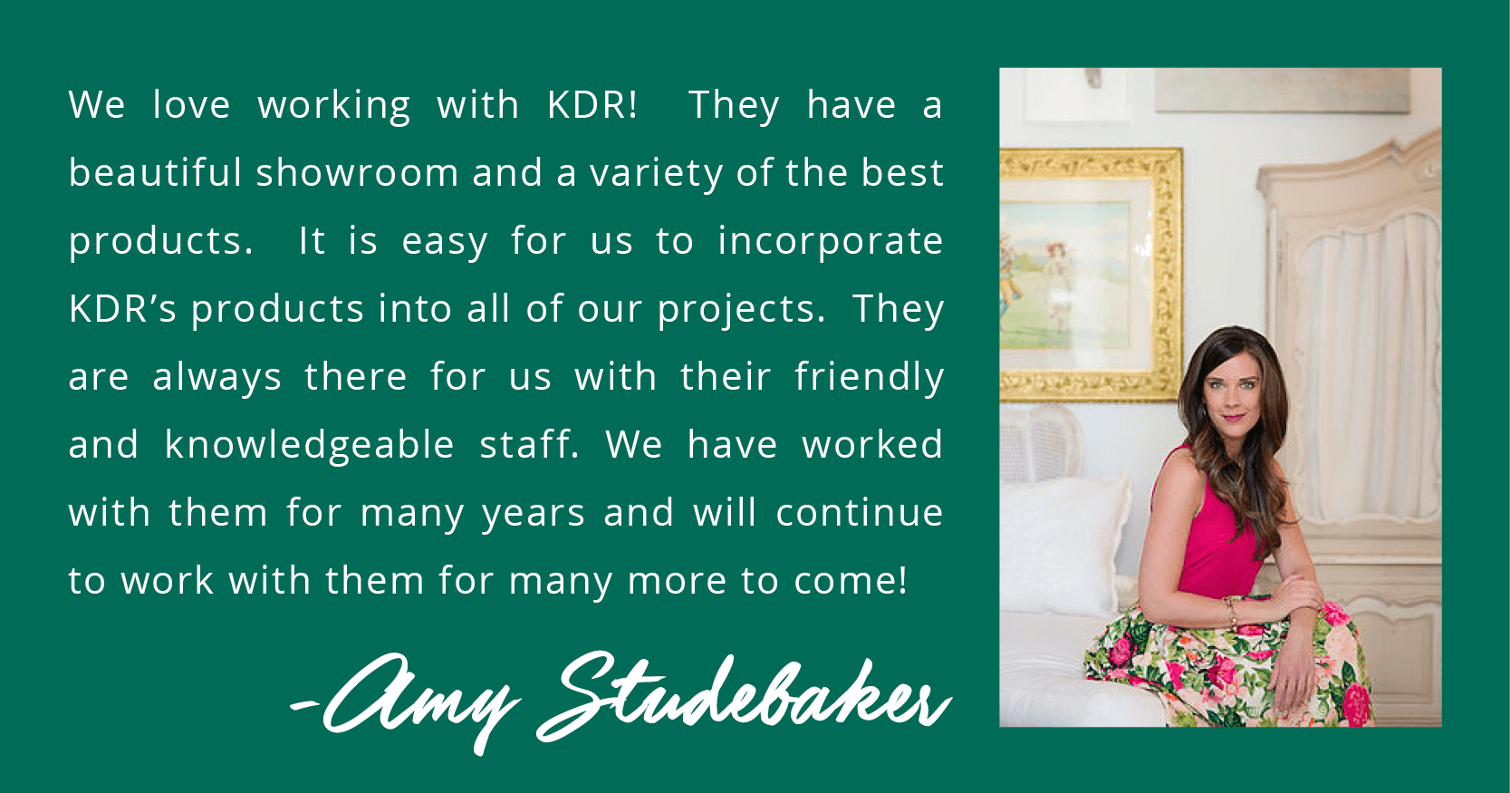 KDR 25th Anniversary Weekly Giveaway Winner - Amy Studebaker Design