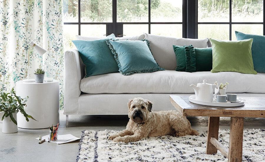 Hard-Wearing, High-Style Fabric and Trim - Villa Nova EasyClean Velvet