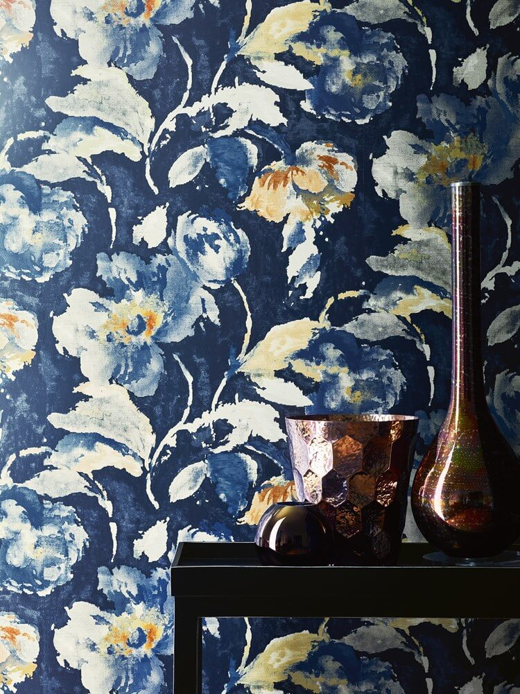 Bold pattern, vibrant color | Atmosphere Wallcoverings from Jane Churchill