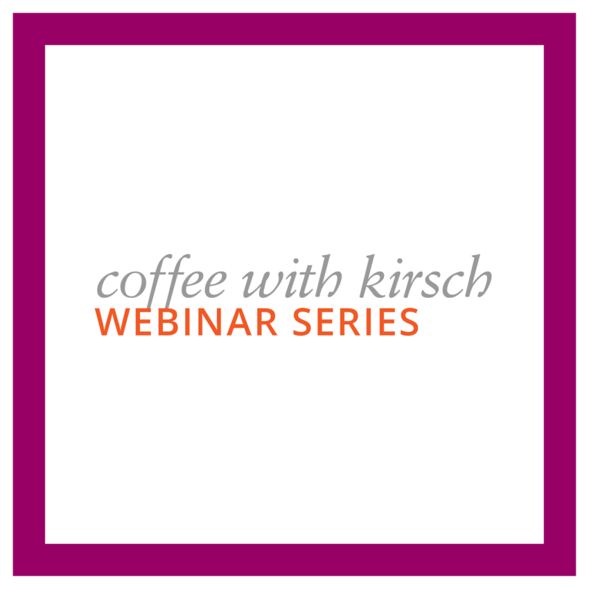 Coffee with Kirsch Webinar Series: Designer Metals Overview: Tuesday, April 25, 2017