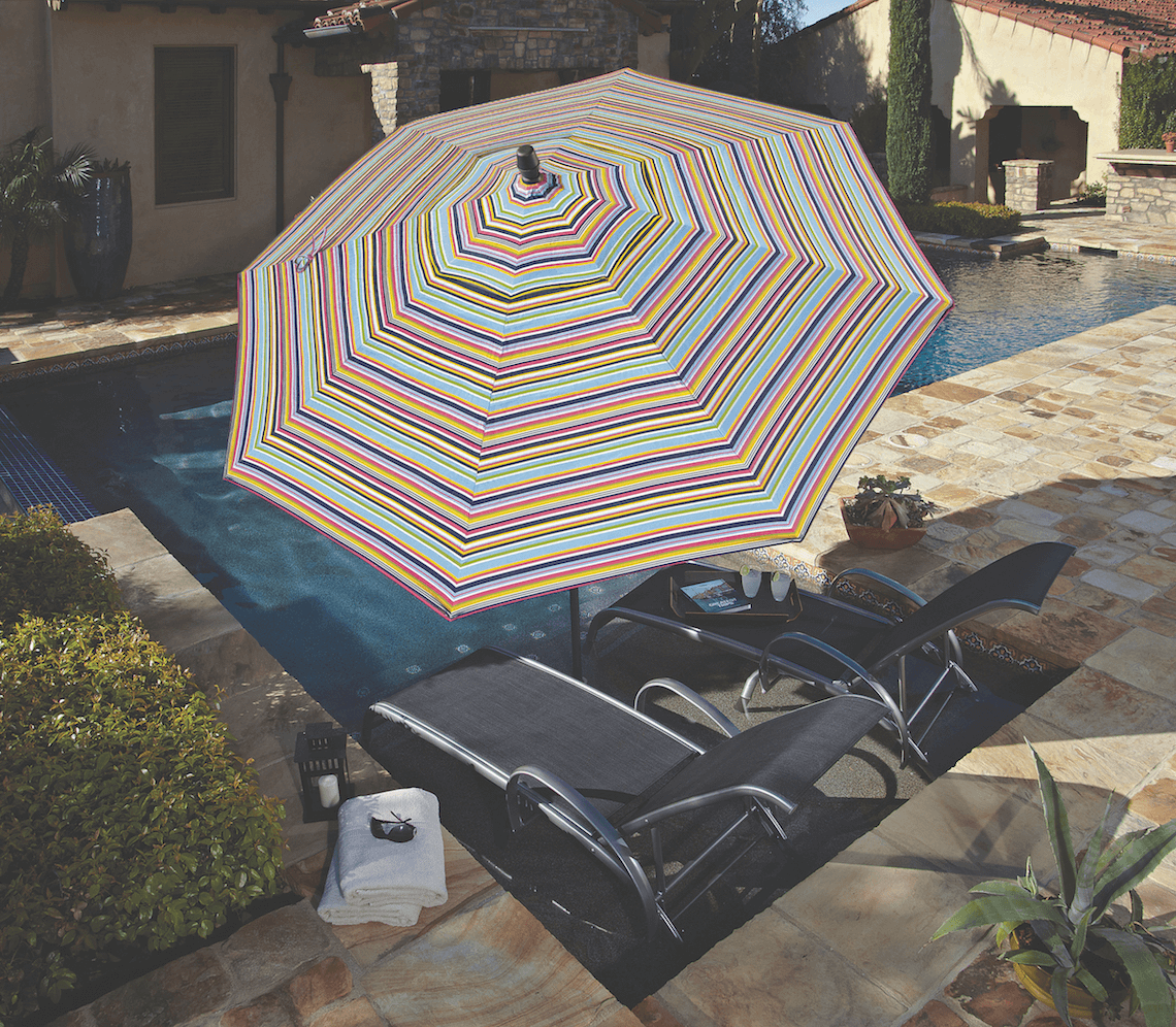 Striped Patio Umbrellas by Treasure Garden