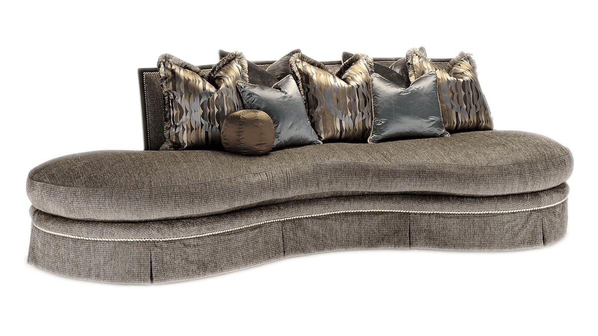 Marge Carson Kidney-Shaped Sofa
