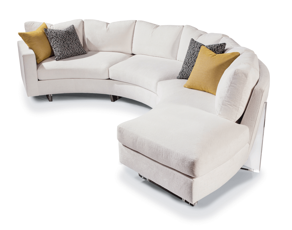Ice Clip Sectional by Thayer Coggin with Lucite Legs