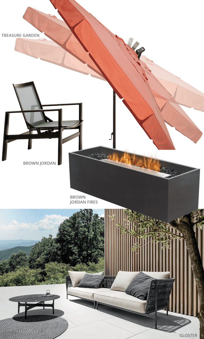 Outdoor Furniture Product List 2017 KDR Designer Showrooms