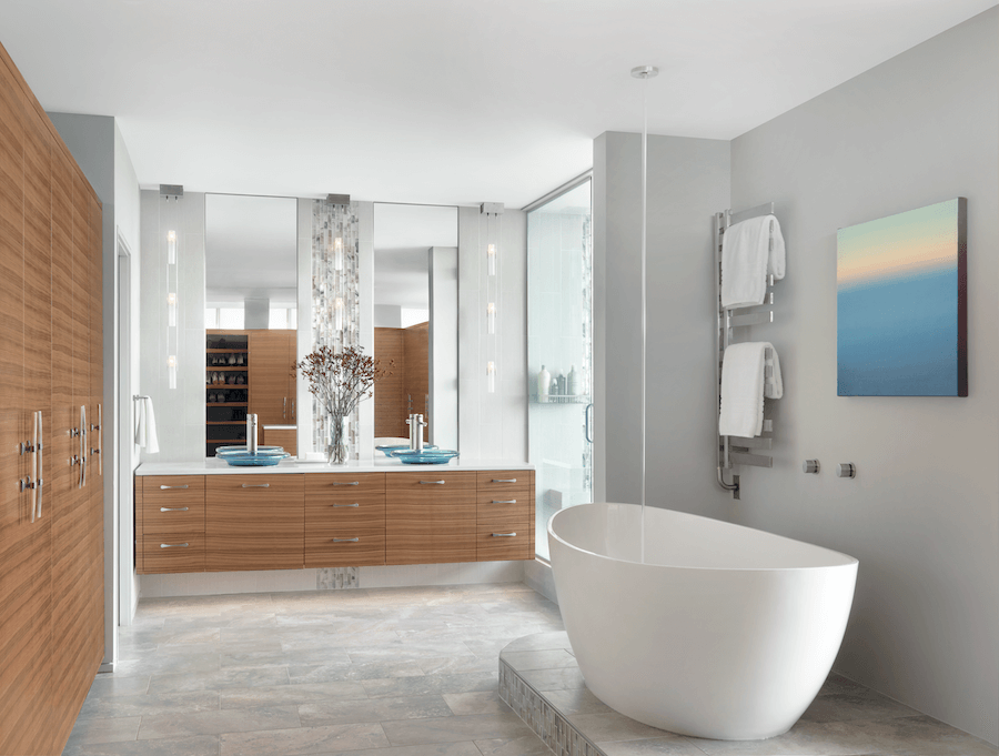 Master Bathroom - Freestanding Tub - Modern Bathroom Design by Castle Design