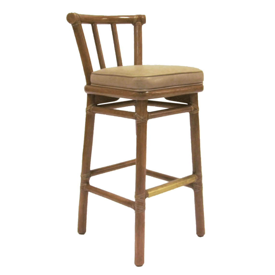 McGuire Leather Barstool