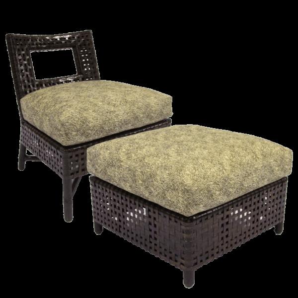 McGuire Antalya Slipper Chair Ottoman