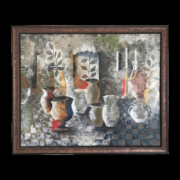 Candelabra & Vases art by artist Heather Duncan