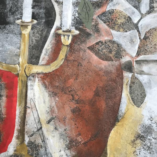 Detail of Candelabra & Vases art by artist Heather Duncan