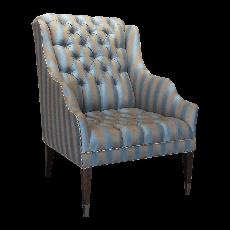 Swaim Tufted Wingback Arm Chair