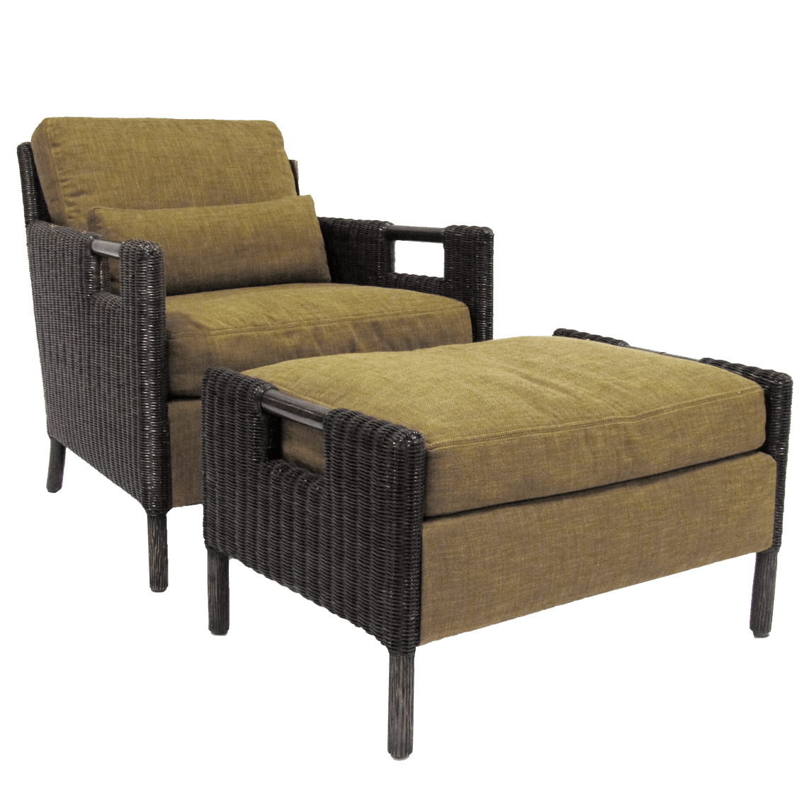 THOMAS PHEASANT WOVEN CORE LOUNGE CHAIR & OTTOMAN