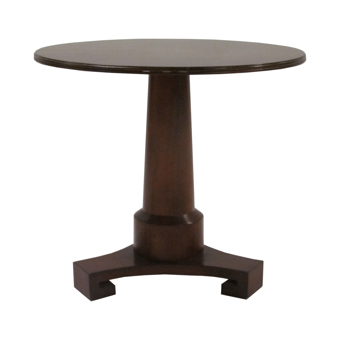 Thomas Pheasant Pedestal Side Table by Baker