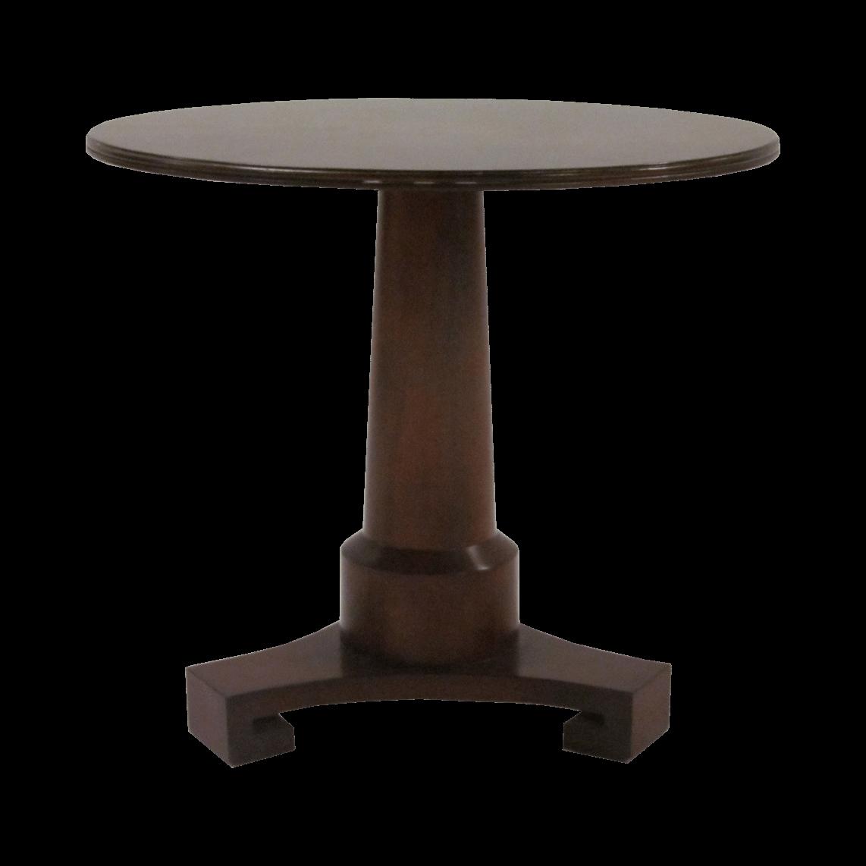 Thomas Pheasant Pedestal Side Table by Baker
