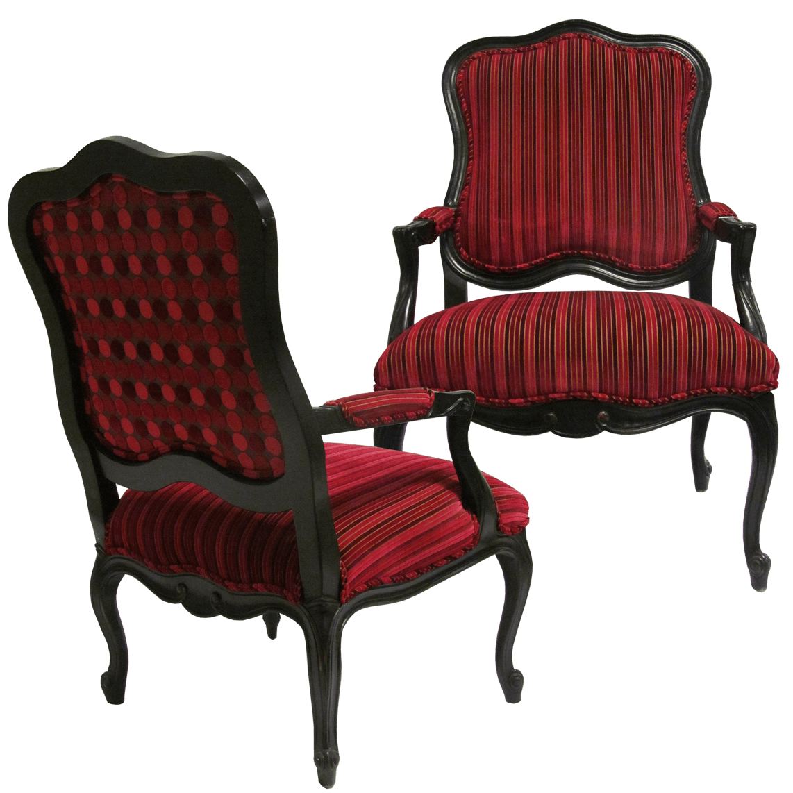 louis xv style fauteuil arm chairs 2. Black Bedroom Furniture Sets. Home Design Ideas