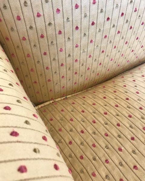 COM Fabric Wingback Detail