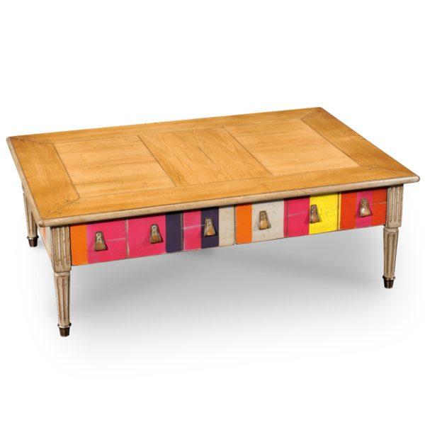 Grange Color Block Cocktail Table