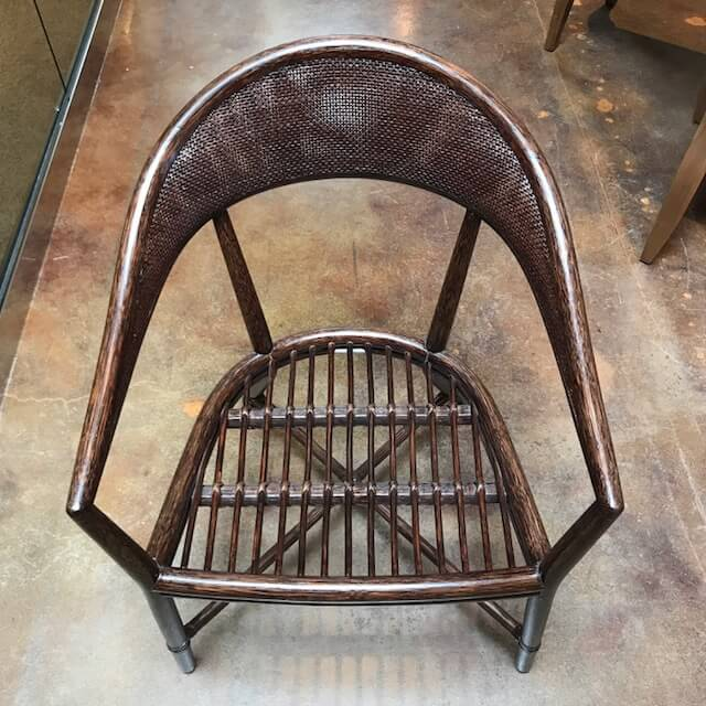 McGuire Mallorca Chair Top Down View of Frame