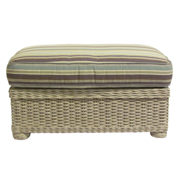 Ernest Hemingway Natural Wicker Cuddle Ottoman