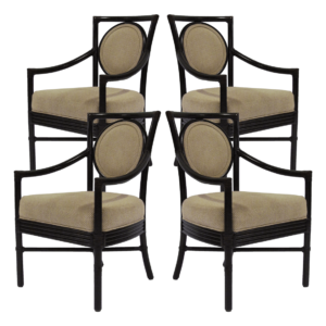 McGuire Salon Arm Chair Set of 4