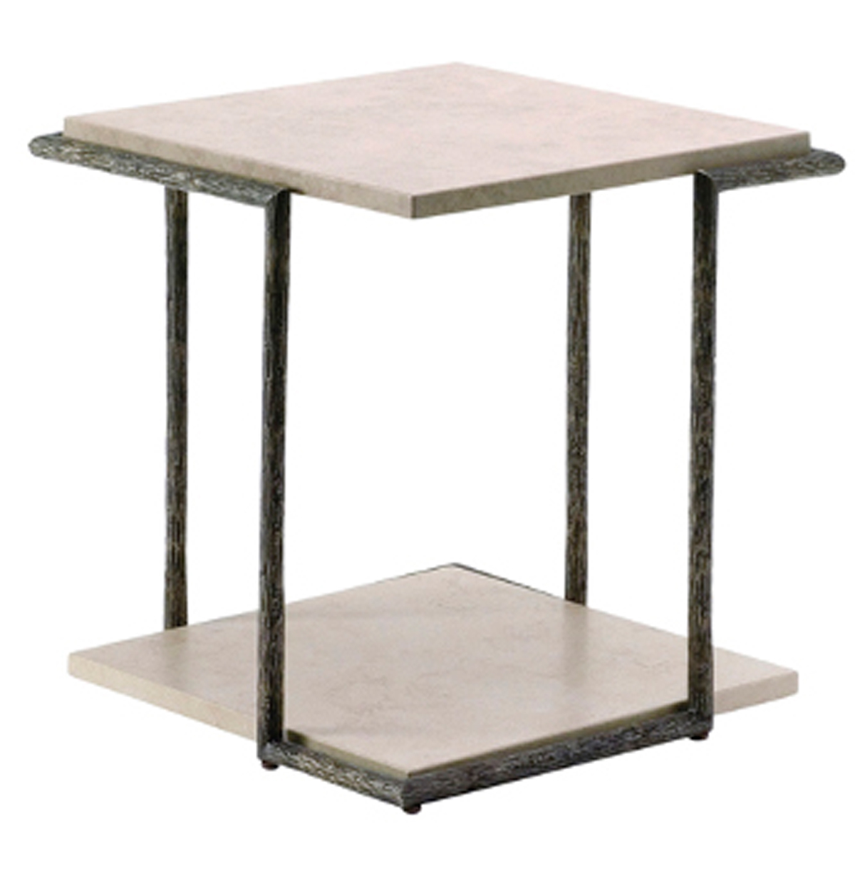 THOMAS PHEASANT TEXTURED BRASS SIDE TABLE No. TB-41S