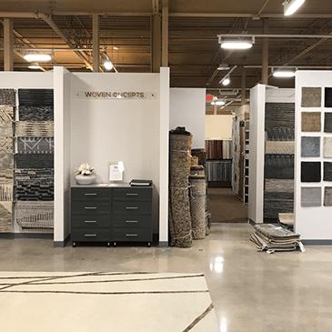 New Luxury Rug Boutique in Showroom