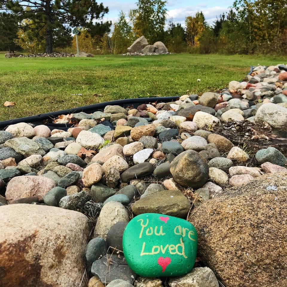 Small Act of Kindness Green Rocks Carls Cause