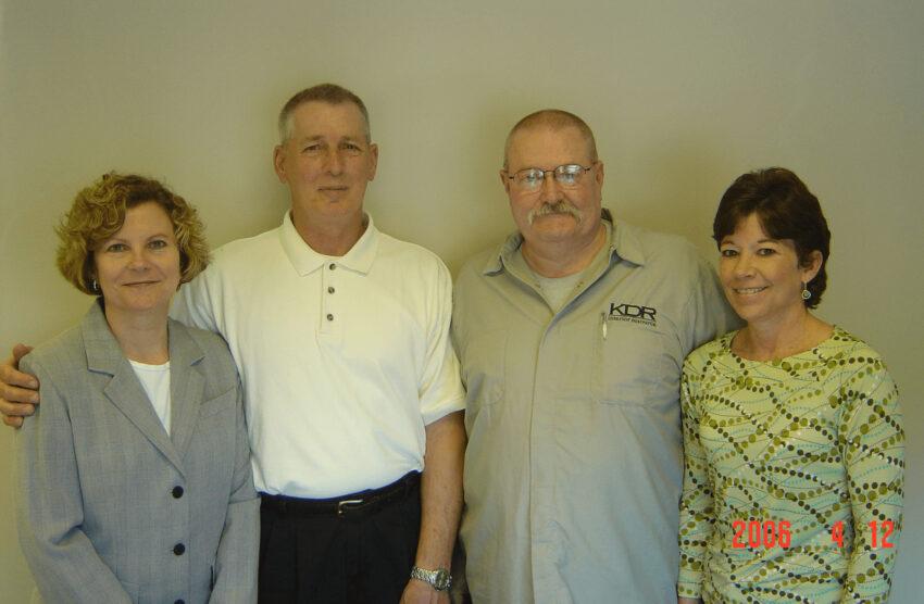 First KDR Employees: Susan Carter, Mike Huelsing, Norm, Vicki /
