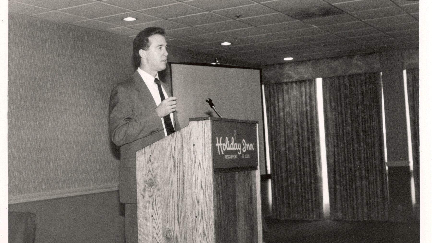 KDR Showrooms, Kevin Kenney giving presentation in 1993.